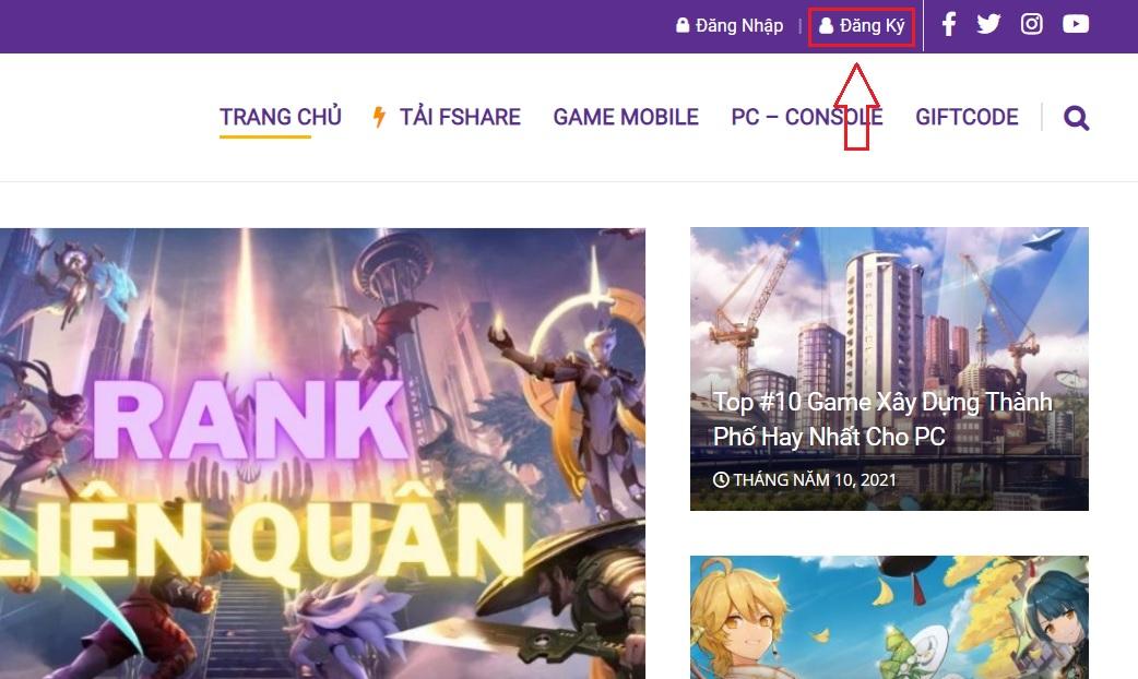 Hướng dẫn đăng ký tài khoản Kpgame.vn